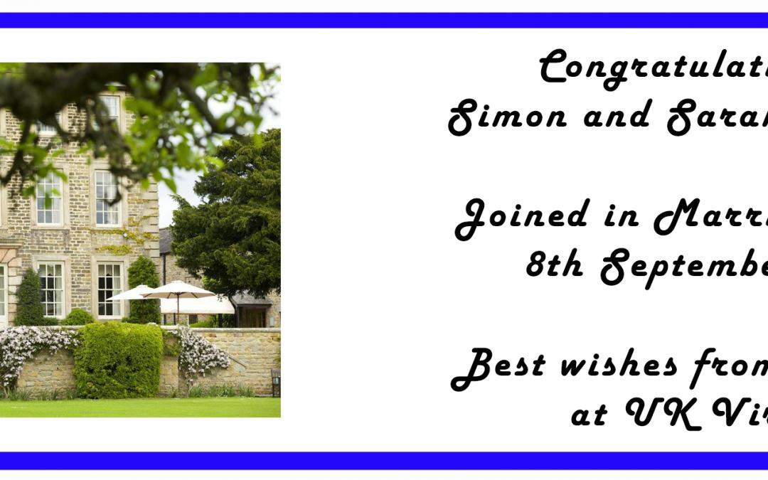 Congratulations – Mr and Mrs Williams