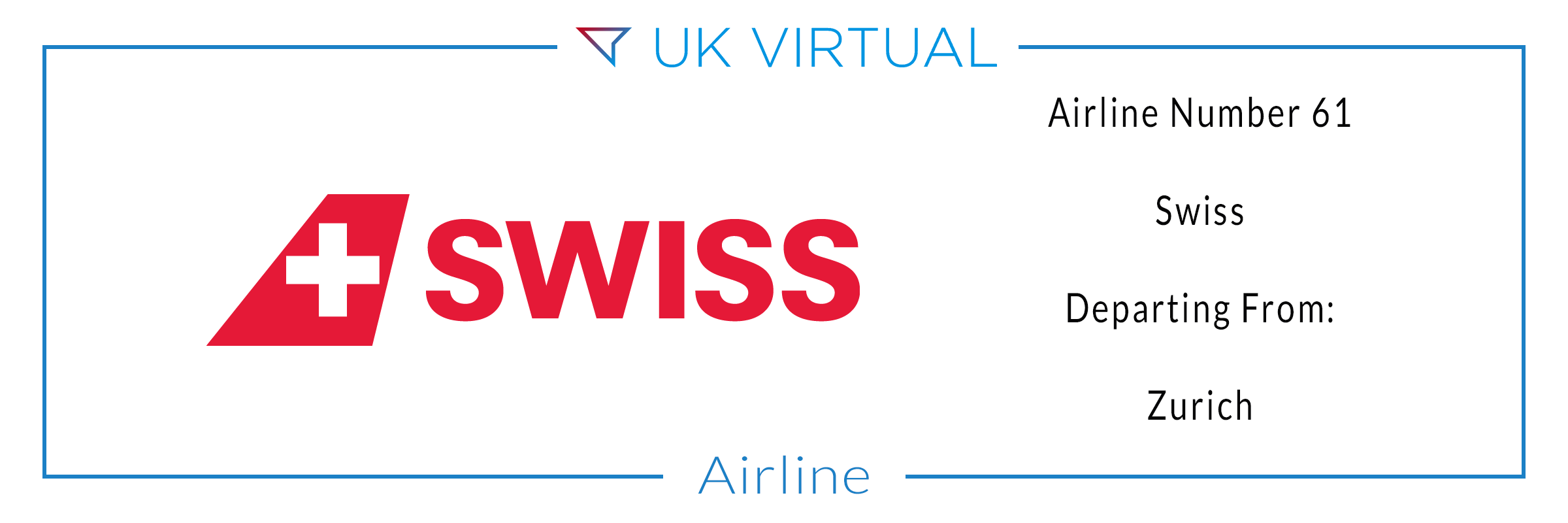 Airline Number 61: Swiss International Air Lines