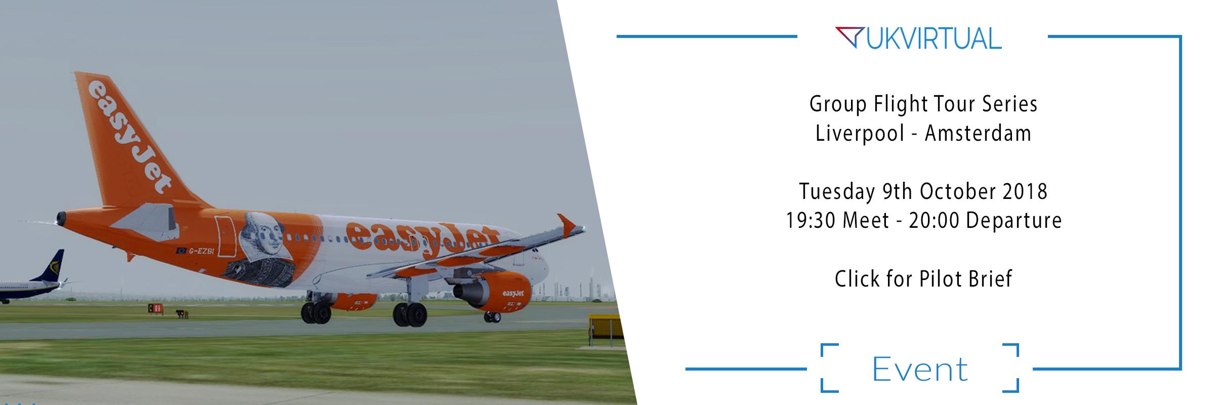 Group Flight Tour Series – Liverpool / Amsterdam