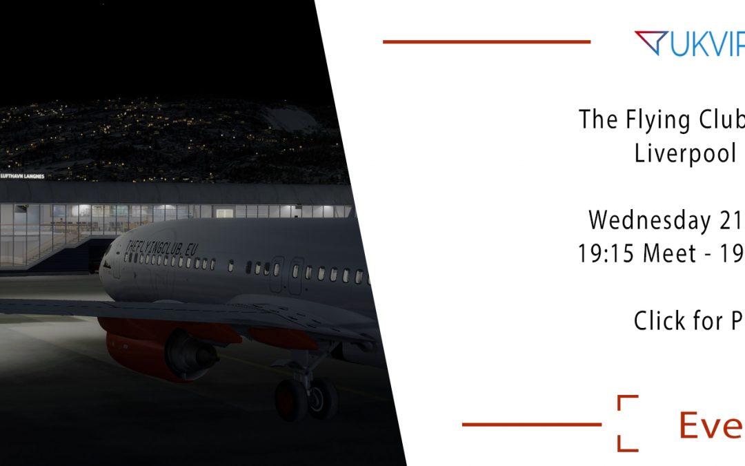Wednesday Group Flight : Liverpool – Tromso