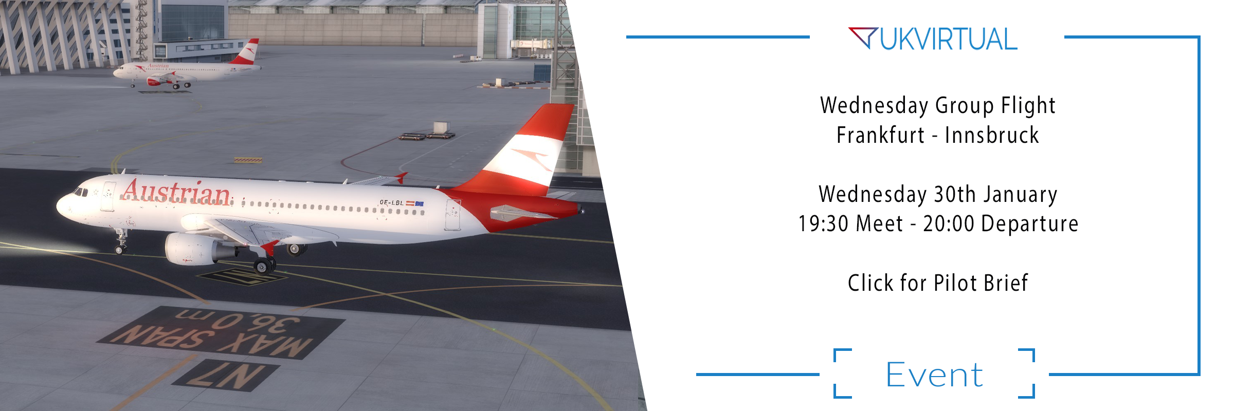 Group Flight Night: Frankfurt – Innsbruck