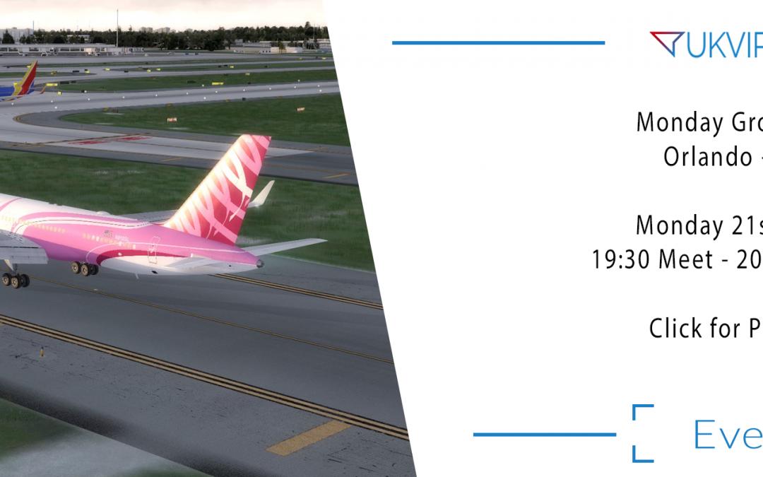 Group Flight Night : Orlando – Miami