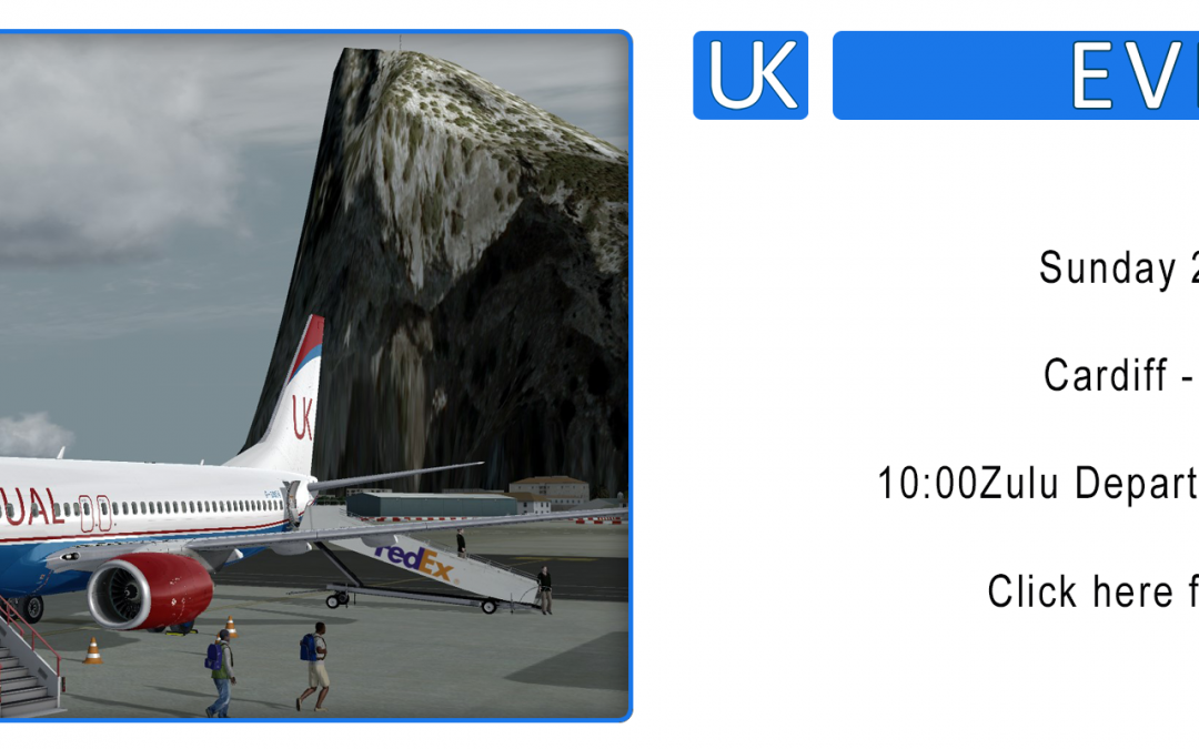 Group Flight : Cardiff – Gibraltar