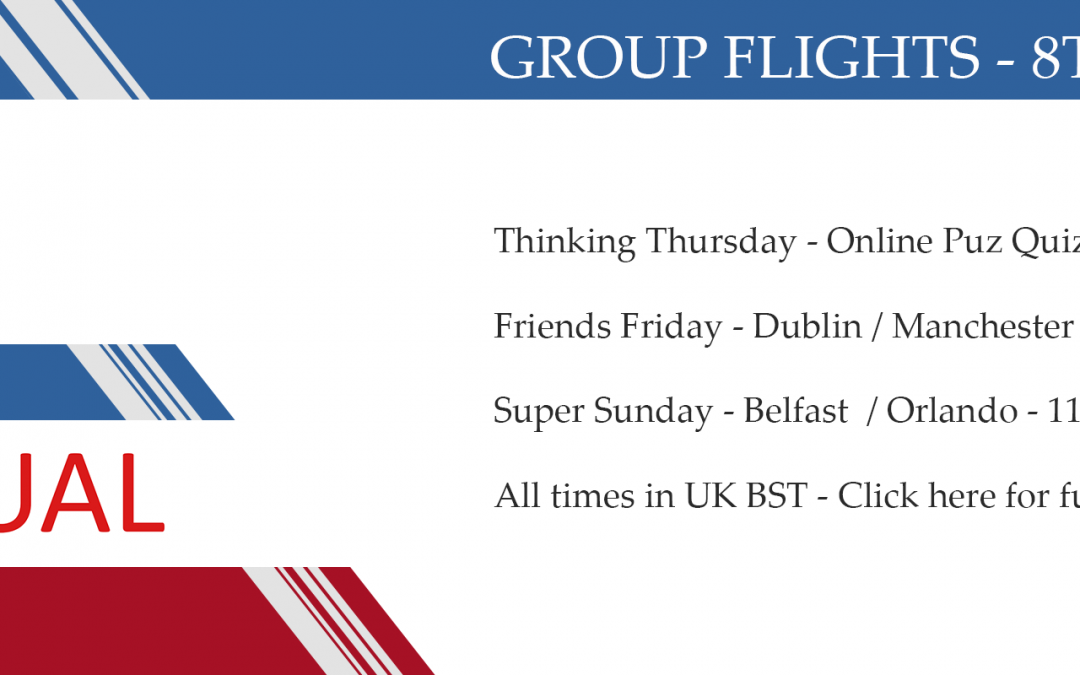 Group flights 8th/14th June 2020