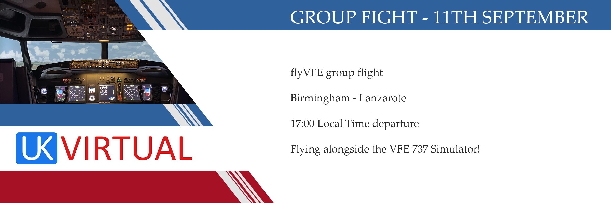 Group flight – Friday 11th September