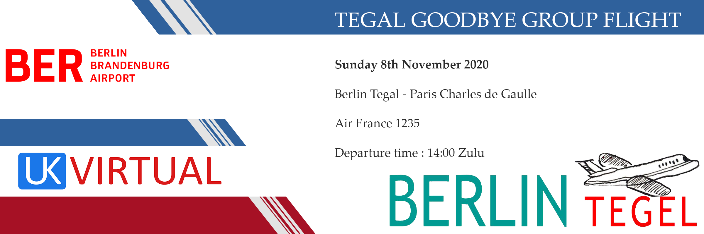 New Group Flight – 08/11/2020 14:00
