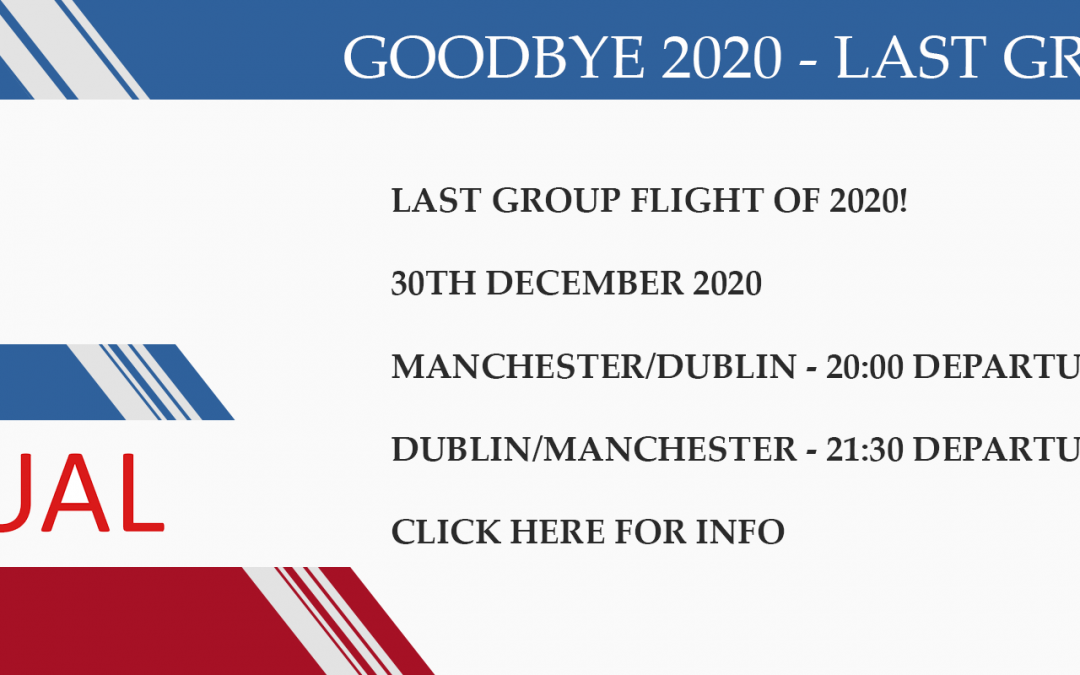 New Group Flight – 30/12/2020 20:00