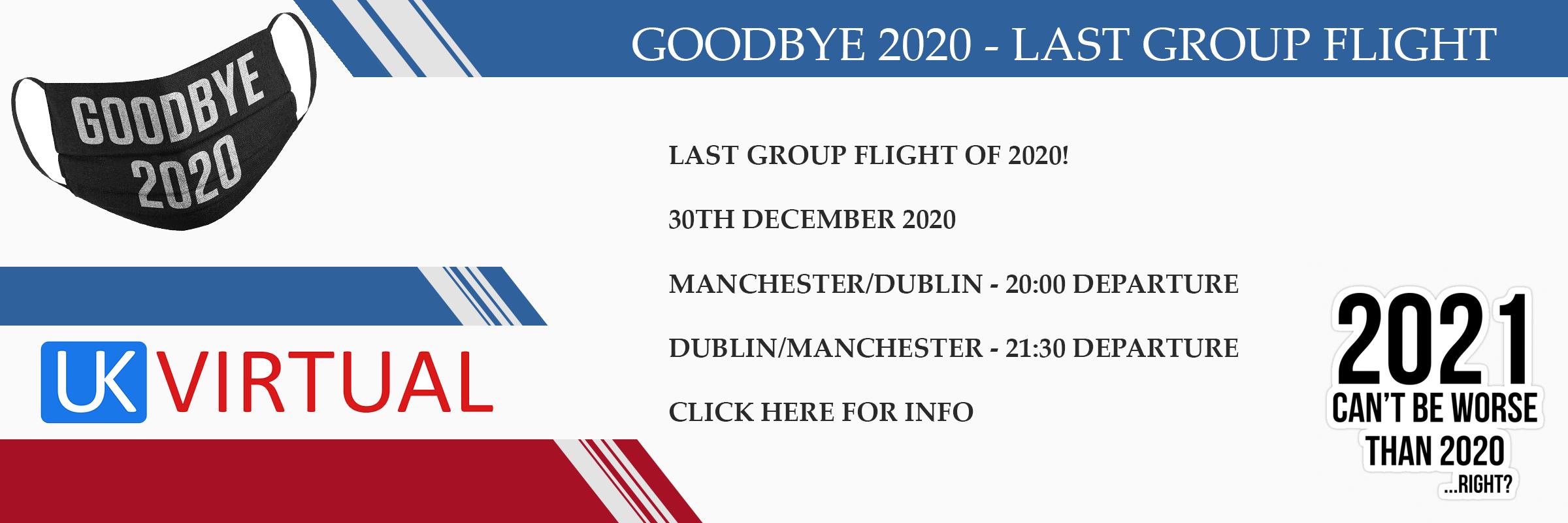 New Group Flight – 30/12/2020 20:00