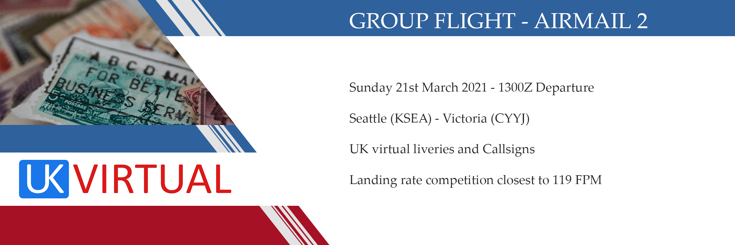 New Group Flight – 21/03/2021 13:00
