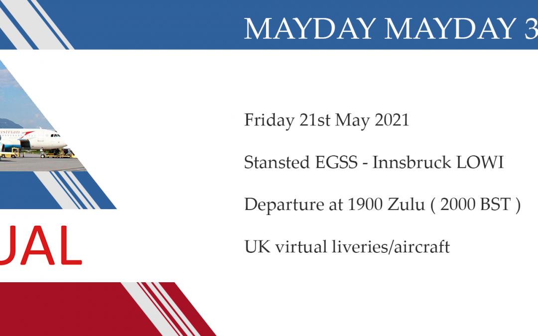 New Group Flight – 21/05/2021 19:00