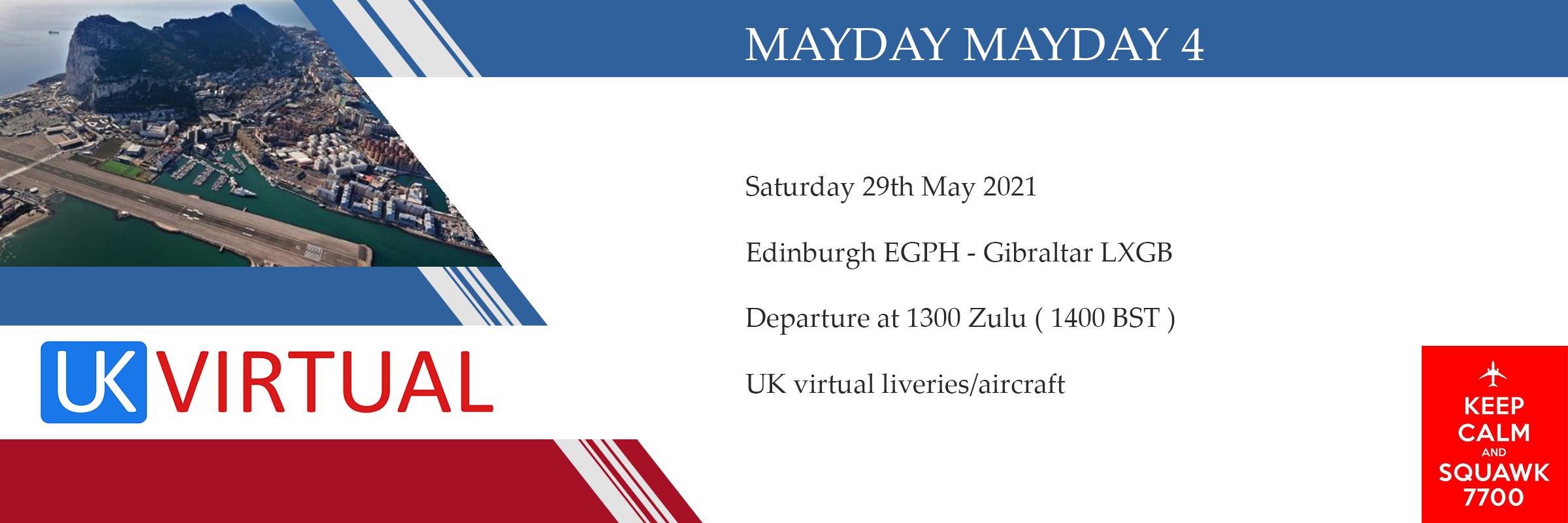 New Group Flight – 29/05/2021 13:00