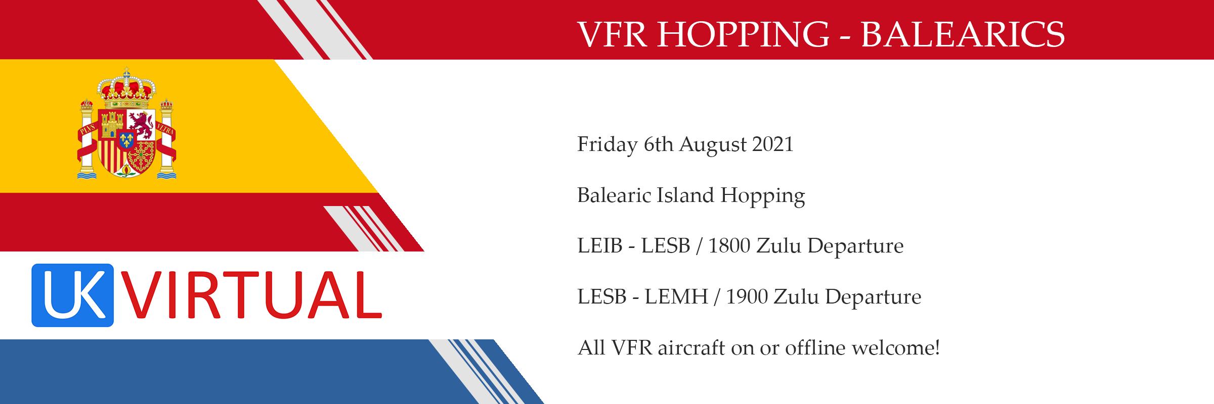 VFR Hopping Balearics