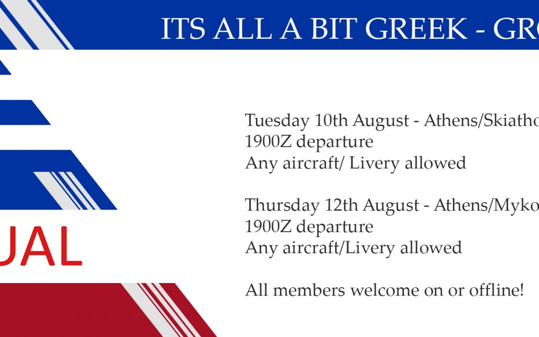 Its all a bit Greek group flights