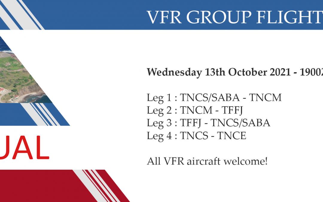 New Group Flight – 13/10/2021 19:00
